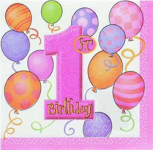 1st Birthday Greeting Card For Baby Girl – 1st Birthday Greetings