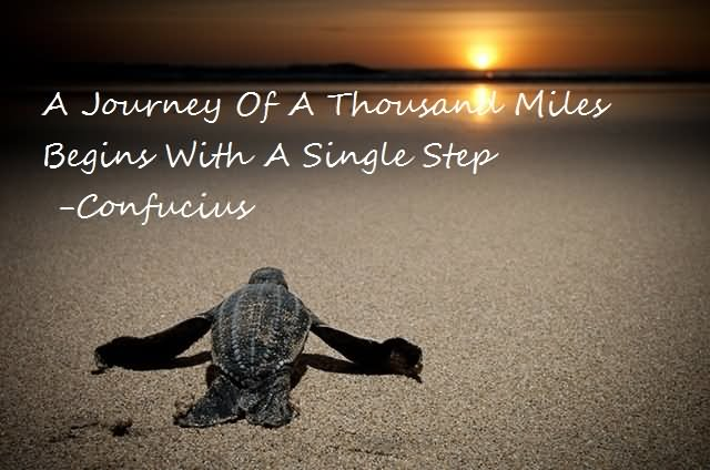 A journey of a thousand miles begins with a single Confucius