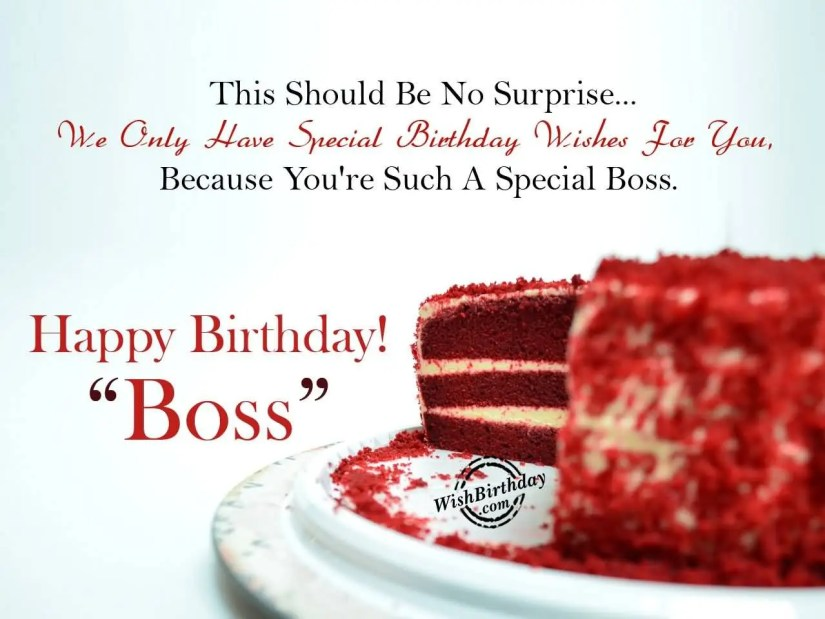 Amazing Happy Birthday Wishes For Awesome Boss