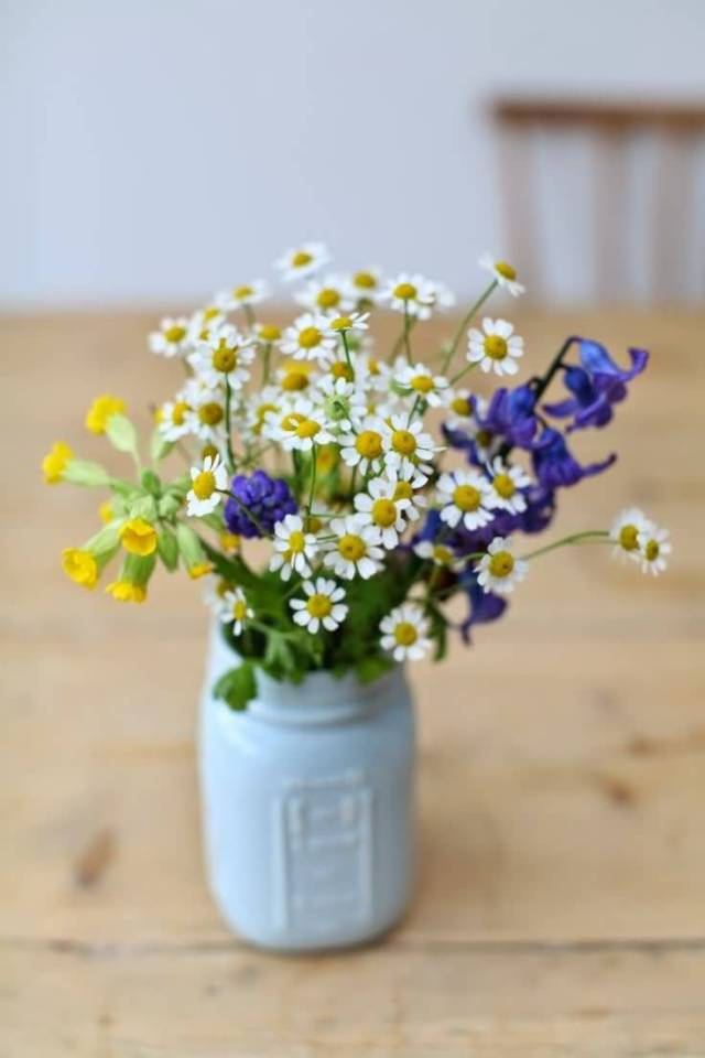 Awesome Bluebell Flower Bouquet In Vase