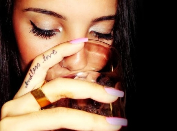 Awesome Endless Love Finger Tattoo Design For Girls