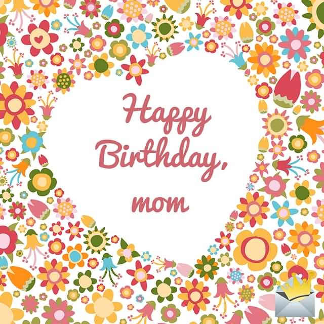 Awesome Happy Birthday Mom Greeting Card