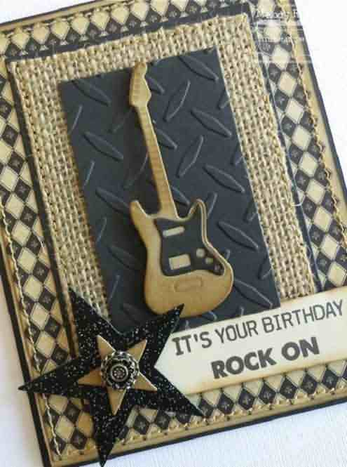 Awesome It's Your Birthday Rock On Card