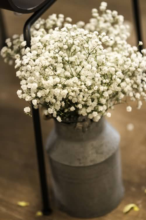 Awesome White Baby's Breath Flower Bouquet In Home