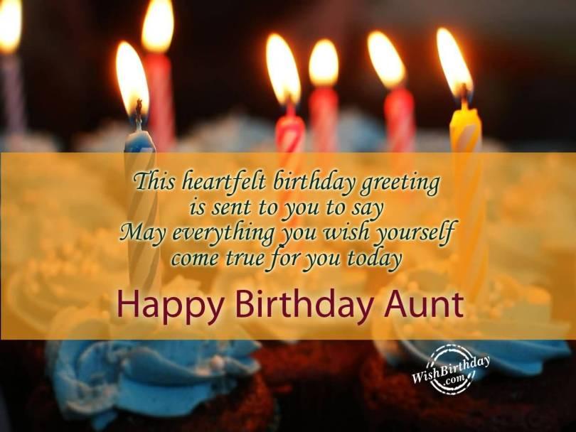 Beautiful Aunt Birthday Quotes