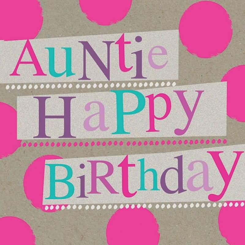 Beautiful Auntie Birthday Greetings Image