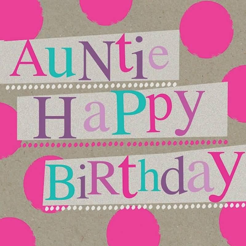 Beautiful Auntie Birthday Greetings Image
