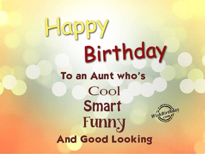 Beautiful Birthday Greetings & Message For Fabulous Aunt