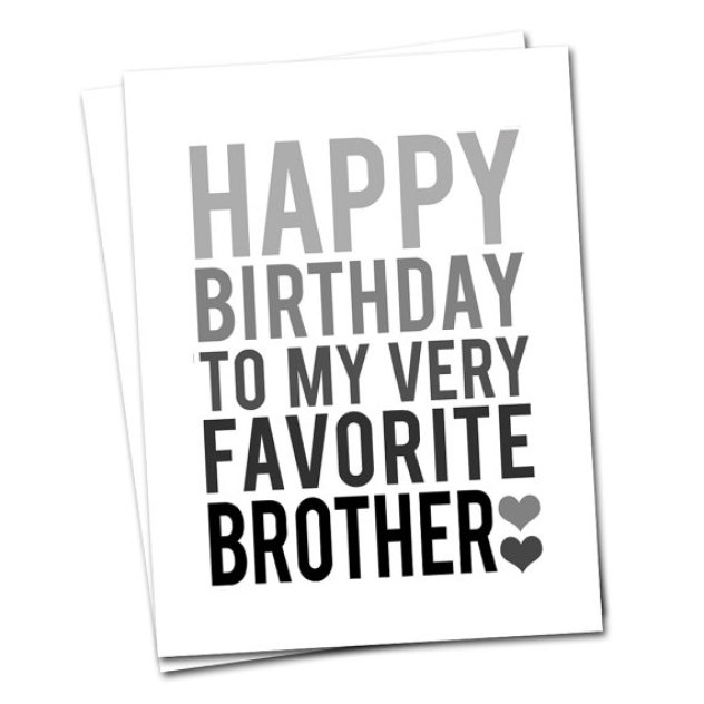 Beautiful Black Letter Birthday Greeting Card For Brother
