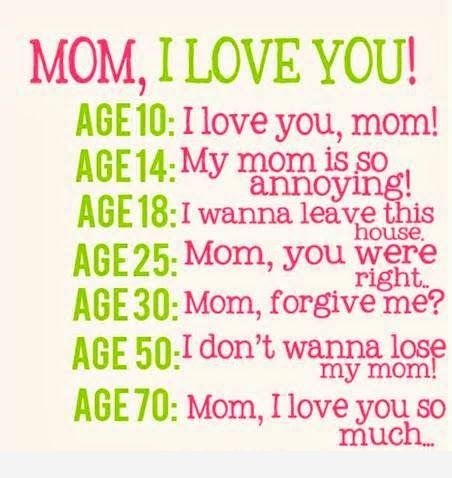 Beautiful Mom Age Quotes Image