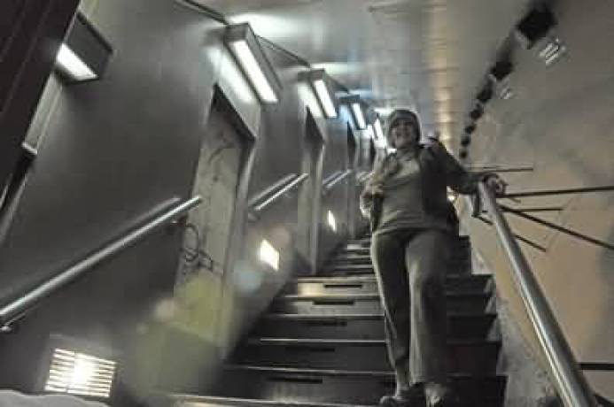 Beautiful Woman On Staircase Inside The Gateway Arch Photo
