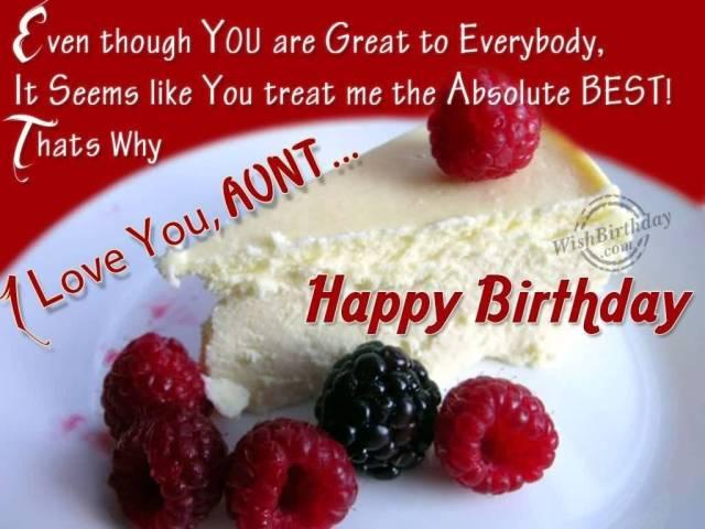 Best Aunt Birthday Greetings Cake Image
