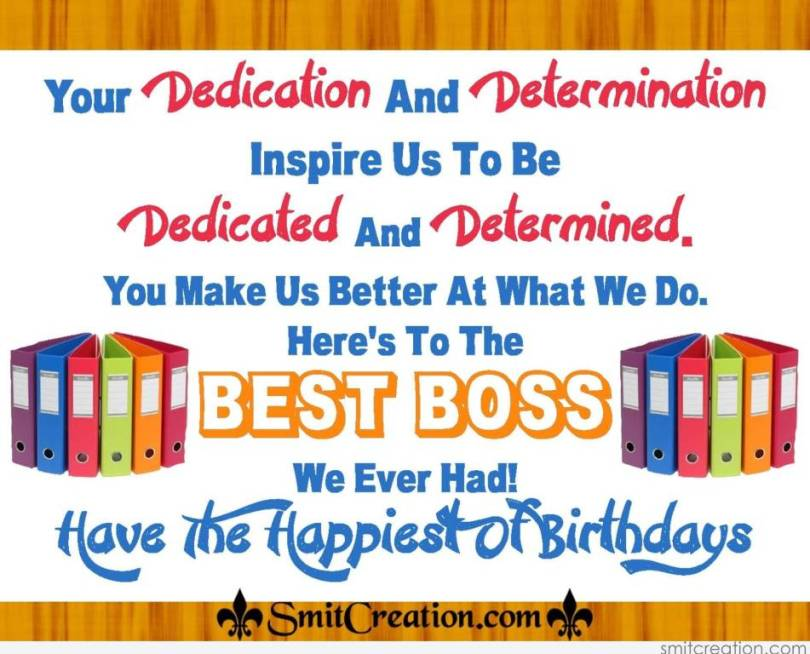 Best Boss Birthday Greeting Message Image