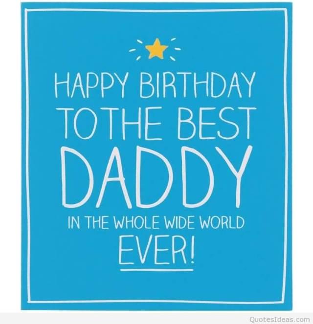 Best Daddy Happy Birthday Wishes Greeting Image