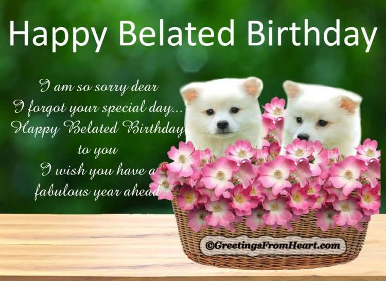 Best Happy Belated Birthday I Am So Sorry Dear I Forgot Your Special Day Belated Happy Birthday Wishes