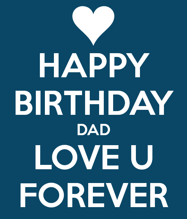 Best Happy Birthday Dad Love U Forever Image