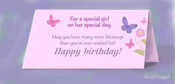 Birthday Greeting Card To Someone Special