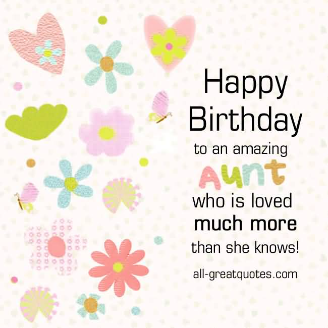 Birthday Greetings Card For Special Aunt