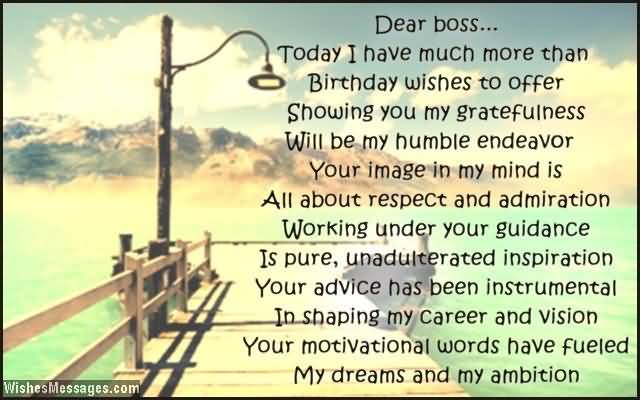 Birthday Message For Best Boss