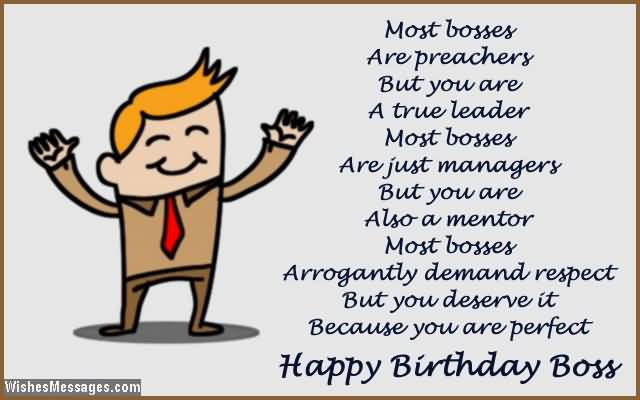 Birthday Wishes And Message For Boss