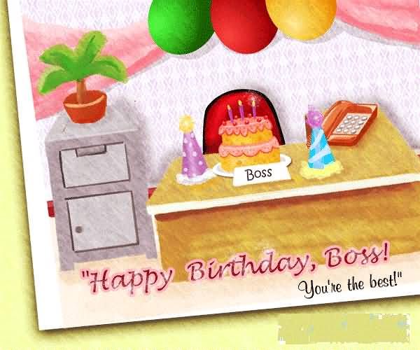 Birthday Wishes E Card For Boss