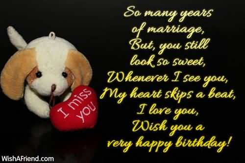 Birthday Wishes For Wife Miss You
