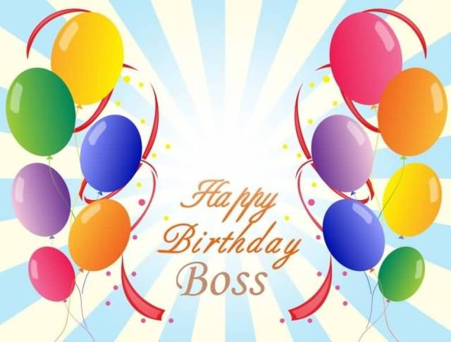 Birthday Wishes Greetings For Boss