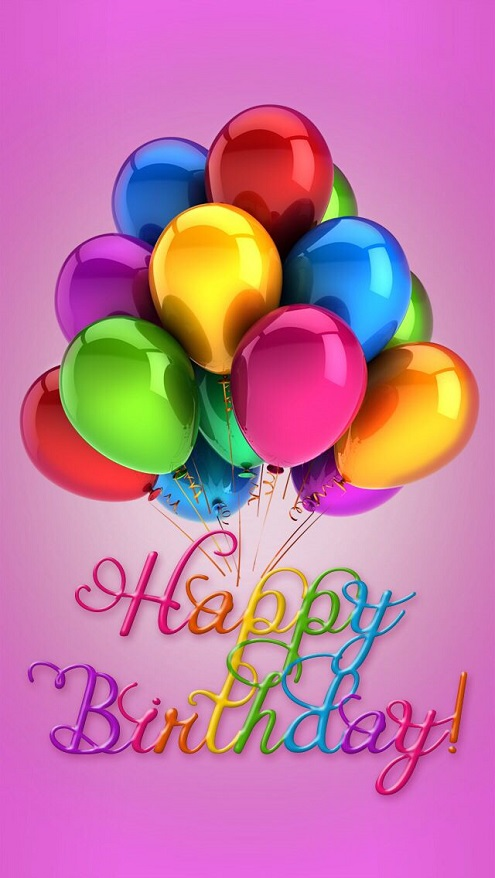 Colorful Balloon Birthday Wishes Image