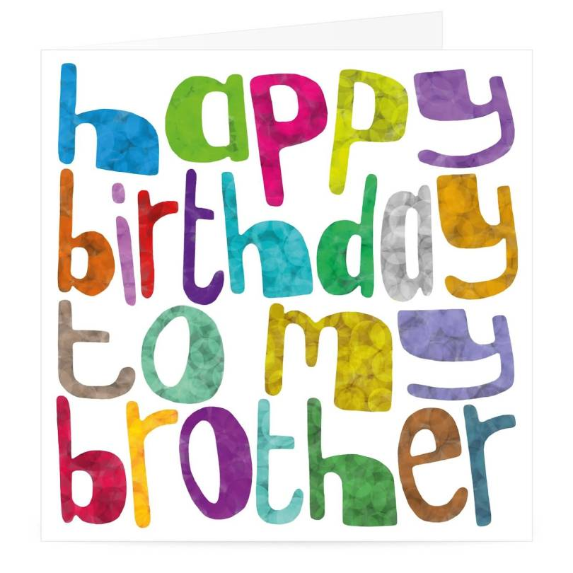 Colorful Birthday Greeting Card For Brother