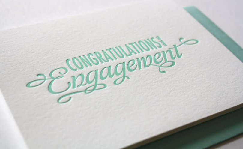 Congratulations Engagement Wishes Card