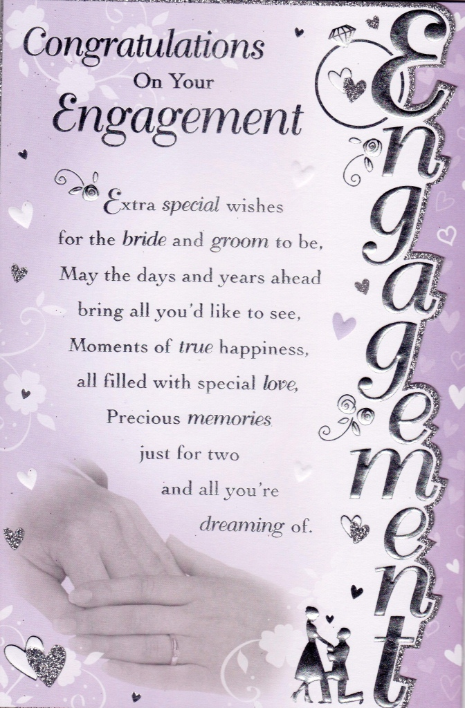 Congratulations On Your Engagement Extra Special Wishes For The Bride And Groom