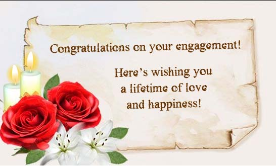 Congratulations On Your Engagement Heres Wishing You A Lifetime Of Love And Happiness Message