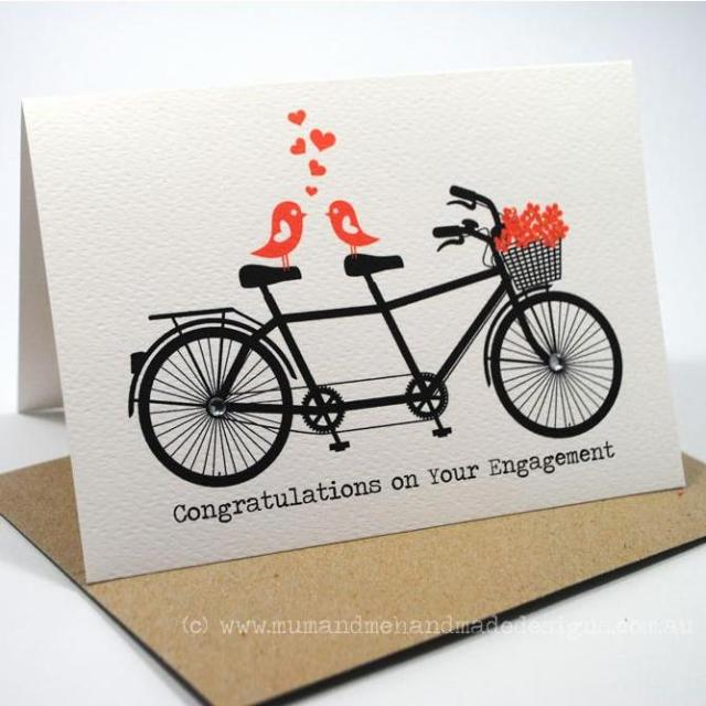 Congratulations On Your Engagement Love Birds Card