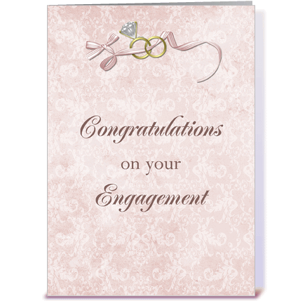 Congratulations On Your Engagement Wishes Card Image