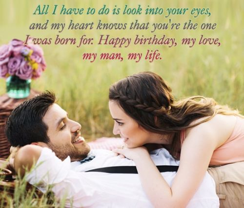 Cute Lover Say Birthday Wishes Quotes Image