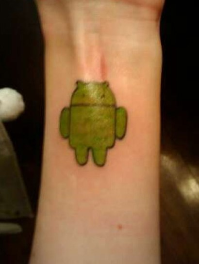 Cutest Small Android Tattoo Design For Men Wrist Or Arm