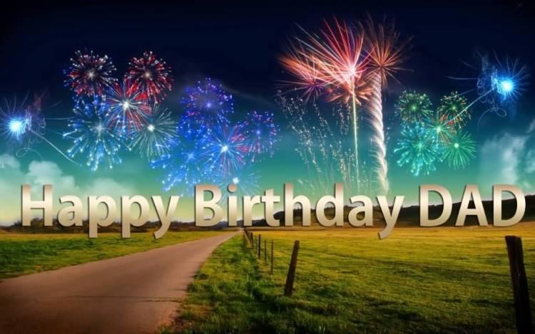 Dad Birthday Celebration Greeting Image