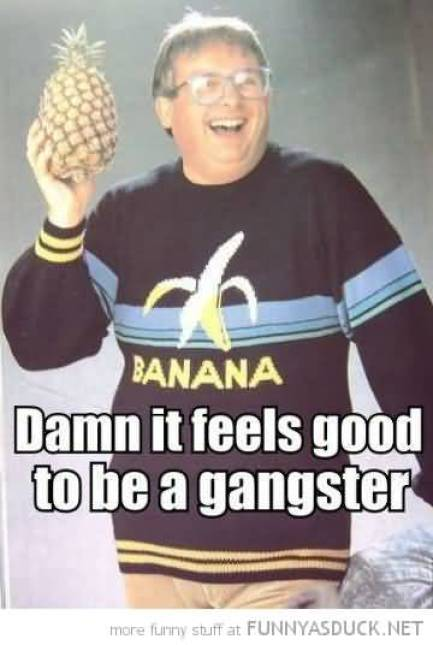 Damn it feels good to be a gangster Hilarious Gangster Meme Photo