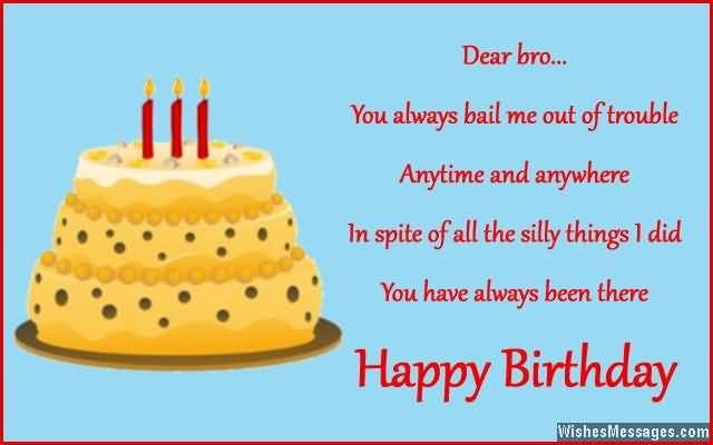 Dear Brother Birthday Quotes Wishes Picsmine
