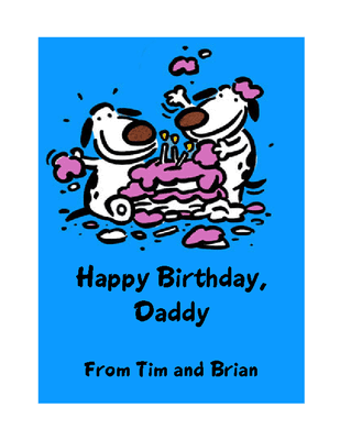 Dear Dad Happy Birthday Greeting Card