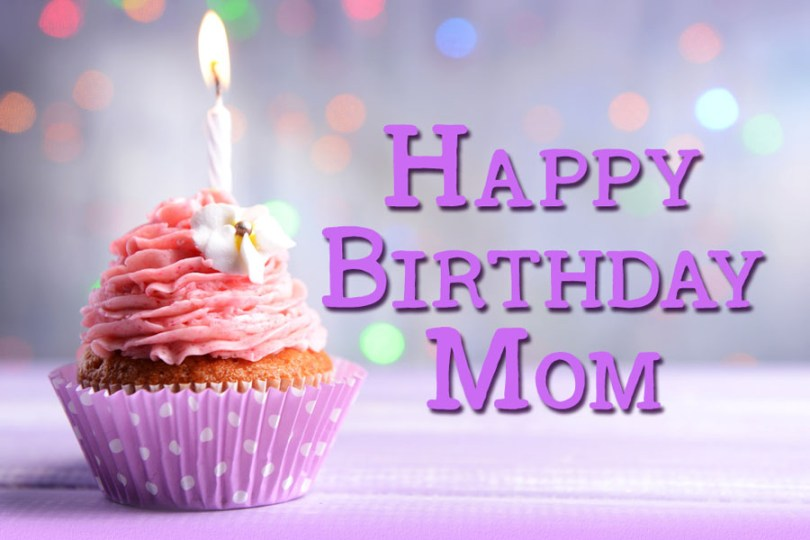 Delicious Birthday Cake For Mom Best Wishes Image