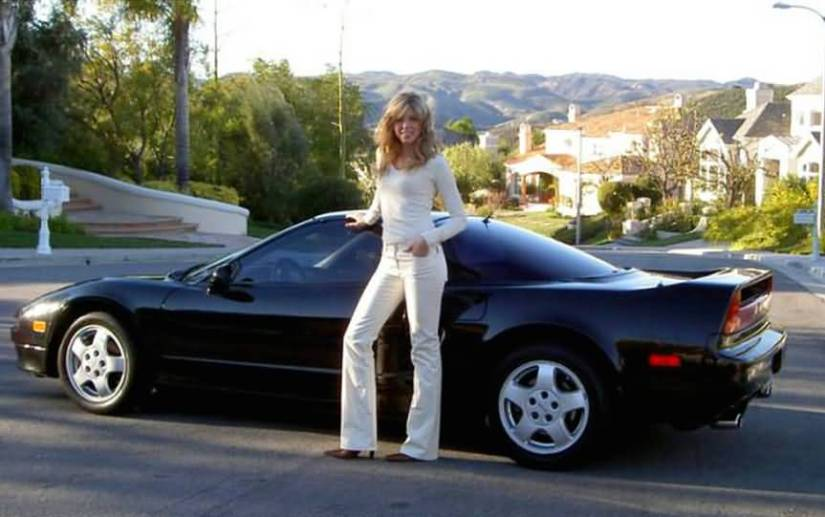 Donald Trumps Ex Wife Marla Maples 1992 Posing With Acura Nsx