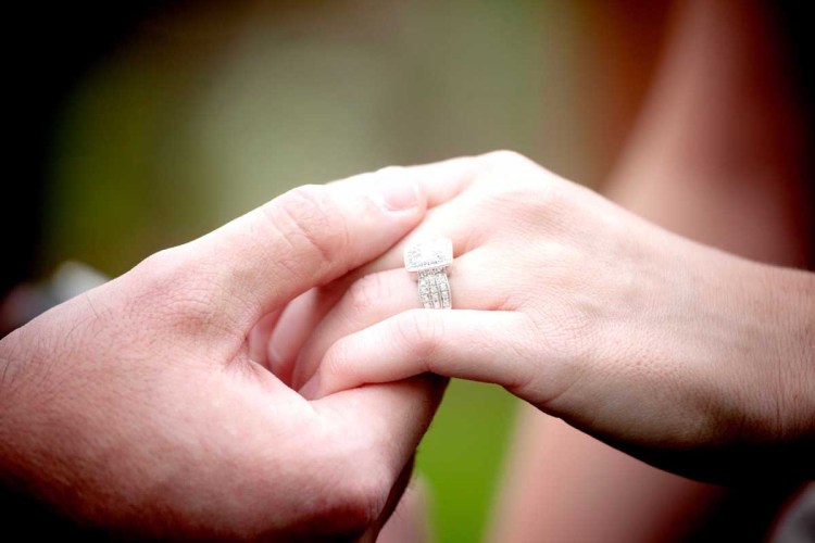 Engagement Holding Hand Pictures