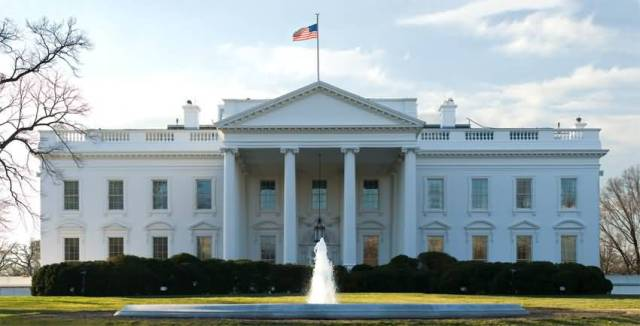 Fabulous Front Facade Of The White House In Washington Photo For Wallpaper