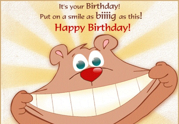 Funny Happy Birthday Wishes Cartoon Image