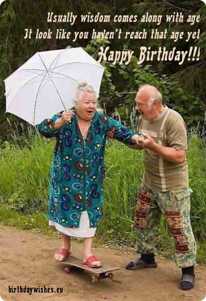 Funny Uncle Aunt Birthday Wishes