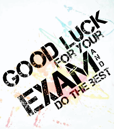 Good Luck For Your Exam Image