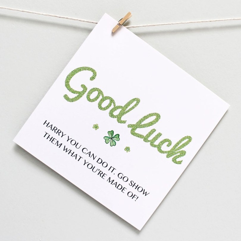 Good Luck Greeting Card Image