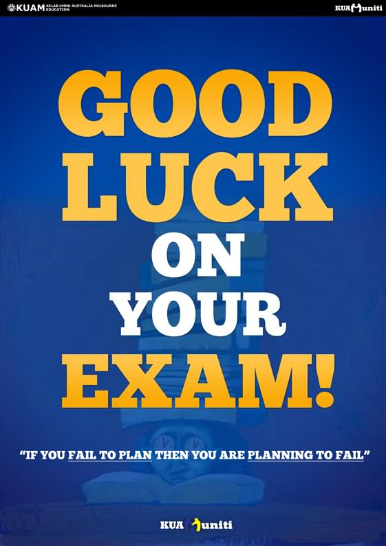 Good Luck On Your Exam Image