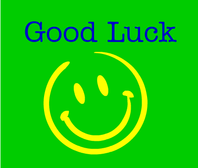 Good Luck Smiley Greeting Image